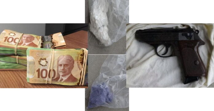 Drugs, Cash and Firearm Seized During Search Warrant in Ajax