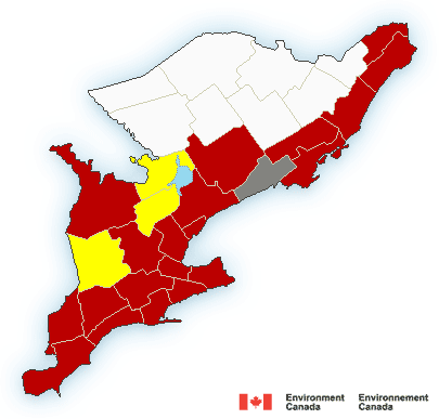 Rainfall Warning in Effect for Durham