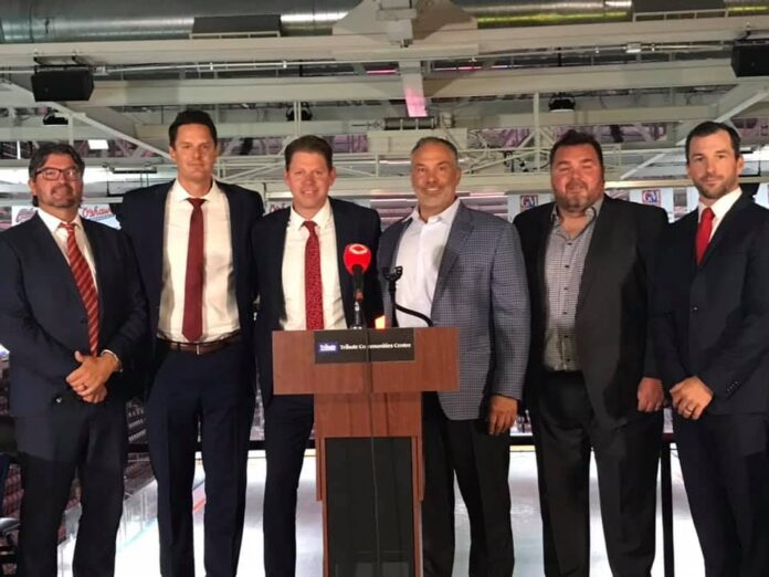 Your complete 2021-2022 coaching staff! Left to right: Dave Matsos, Kurtis Foster, Todd Miller, Mike Hedden