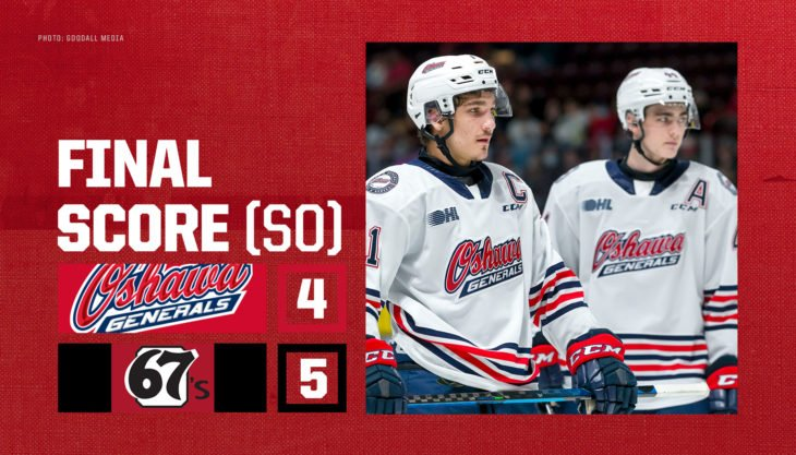 Generals fall to late game comeback against 67's