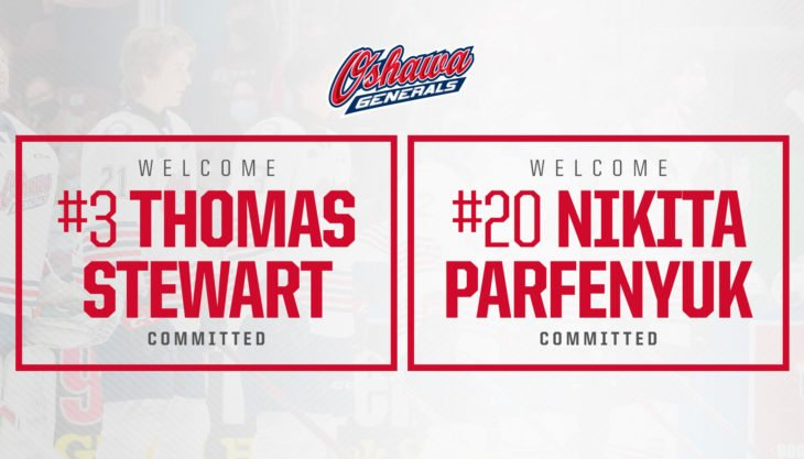 Generals receive two defensive commitments